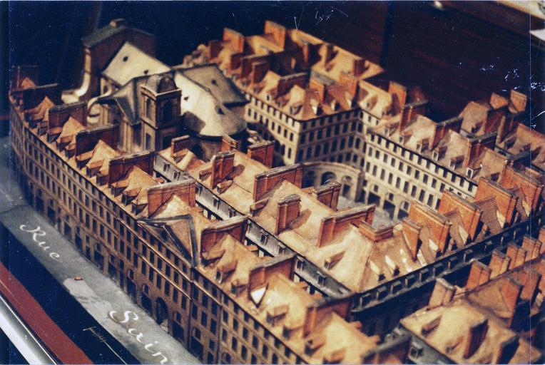 Maquette : plan relief pour la reconstruction de l'hôtel royal des Quinze-Vingt