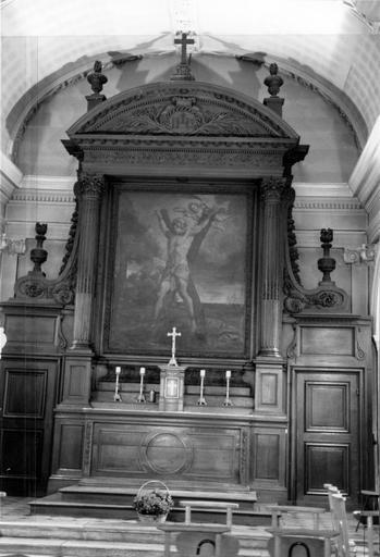 Ensemble du maître-autel (autel, retable, tabernacle, tableau d'autel)