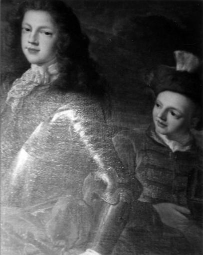 tableau : Portrait en pied de Jacques III avec un page, détail