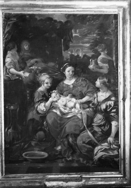 tableau : La Naissance de la Vierge, vue générale