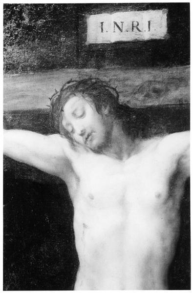 Tableau : Christ en croix, détail