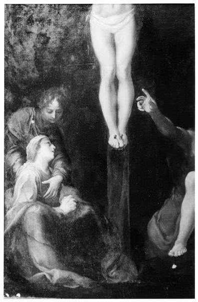 Tableau : Christ en croix, vue partielle