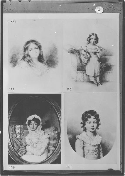 Miniature : Portrait de la Marquise de Montcalm dans son intérieur