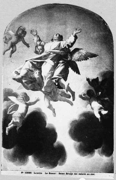Tableau : Le Ravissement de saint Bruno, vue générale