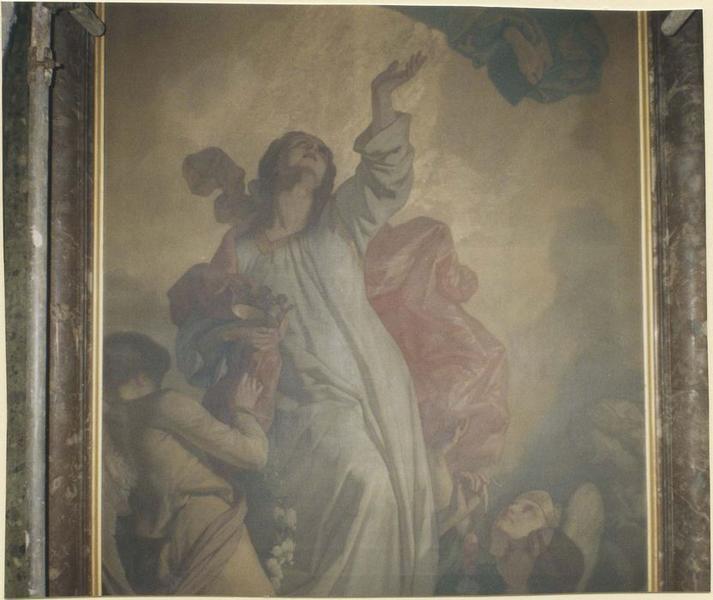 Tableau: apothéose de saint Catherine, vue partielle