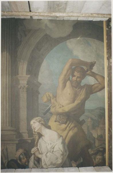 Tableau: mort de sainte Catherine, vue partielle