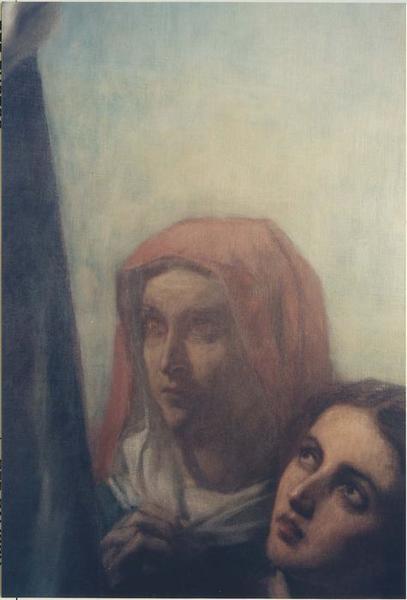 Tableau: sainte Clothilde, détail