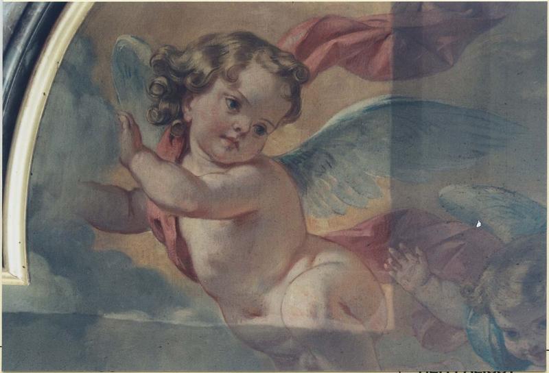 Tableau: sainte Clothilde enlevée au ciel, détail