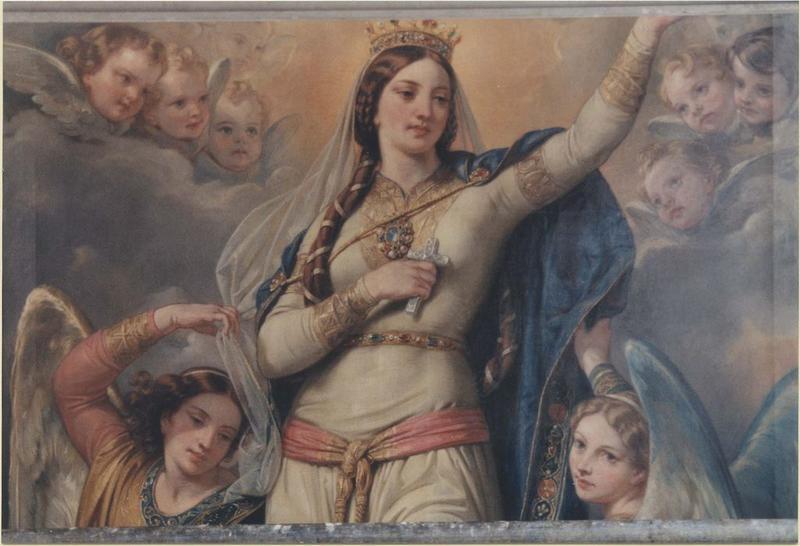 Tableau: sainte Clothilde enlevée au ciel, vue partielle