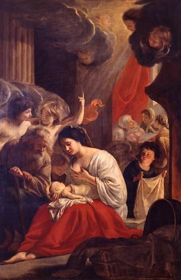 tableau: La Nativité de la Vierge