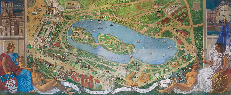 Plan de l'exposition coloniale