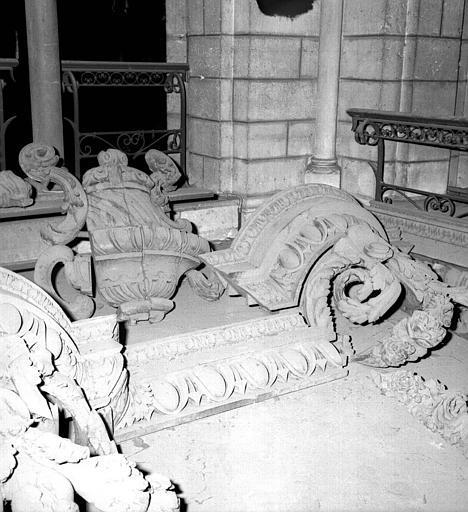 Morceaux d'orgues démontés