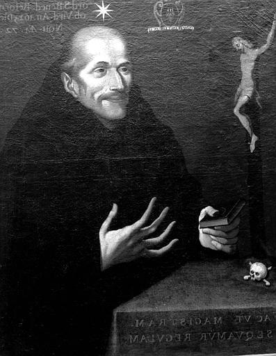 Portrait de Don Didier de la Cour, réformateur de l'ordre de saint Benoît de Lorraine, 1550-1623, peinture sur toile