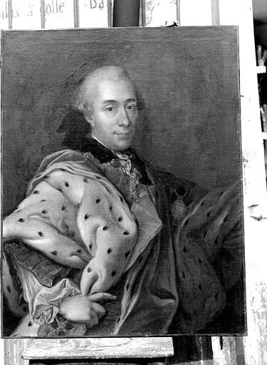 Portrait de Louis-Charles Otton de Salm 1674-1734, peinture sur toile