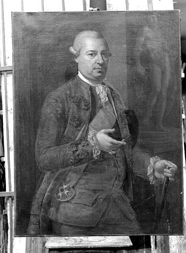 Portrait, peinture sur toile