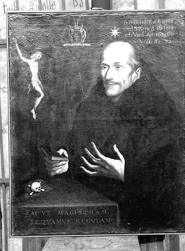 Portrait de Don Didier de la Cour, réformateur de l'ordre de saint Benoît de Lorraine 1550-1623, peinture sur toile