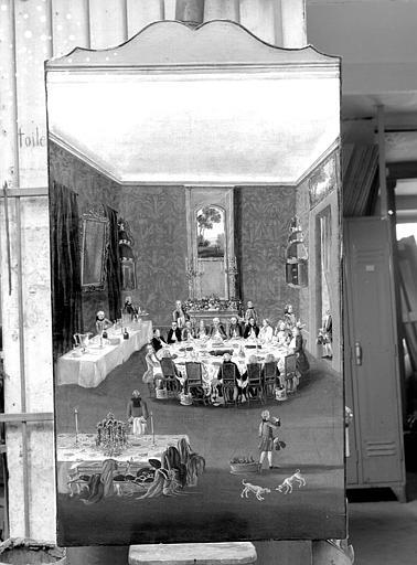 Dîner au Palais des Princes de Salm, peinture sur toile