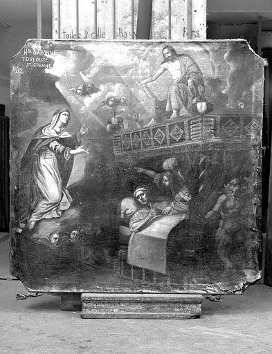La Vierge intercédant au chevet d'un moribond
