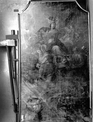 La glorification de la Vierge, peinture sur toile du retable sud
