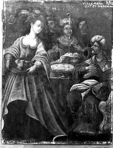 Salomé portant la tête de saint Jean-Baptiste, panneau peint