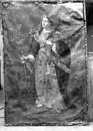 Sainte Catherine, peinture sur toile