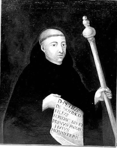 Portrait d'abbé, peinture sur toile