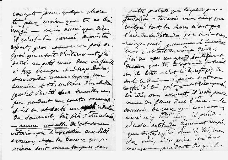 Lettre de Puvis de Chavannes au peintre Saint-François, pages 2 et 3