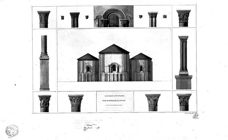 Elévation et détails des absides