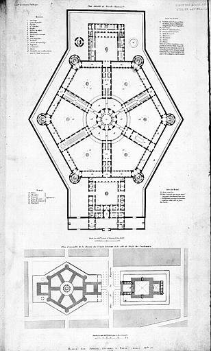Plan détaillé du rez-de-chaussée et plan d'ensemble