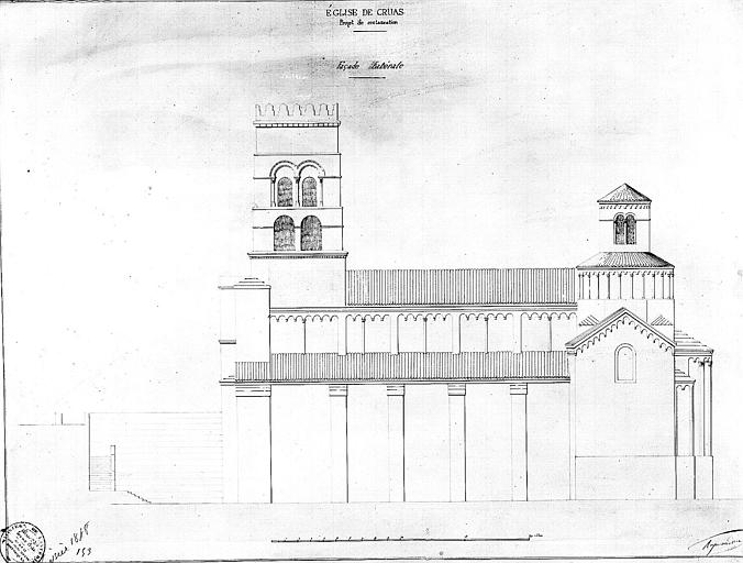 Elévation de la façade sud