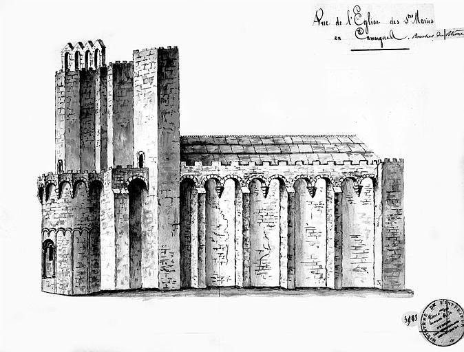 Elévation de la façade nord