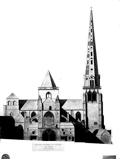 Elévation de la façade principale (état actuel)