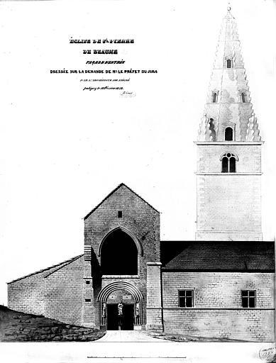 Elévation de la façade de l'entrée