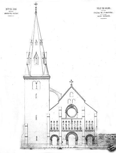 Elévation de la façade ouest (état restauré)