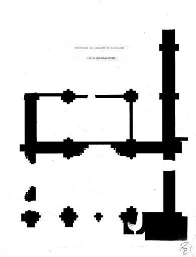 Plan au rez-de-chaussée du portique