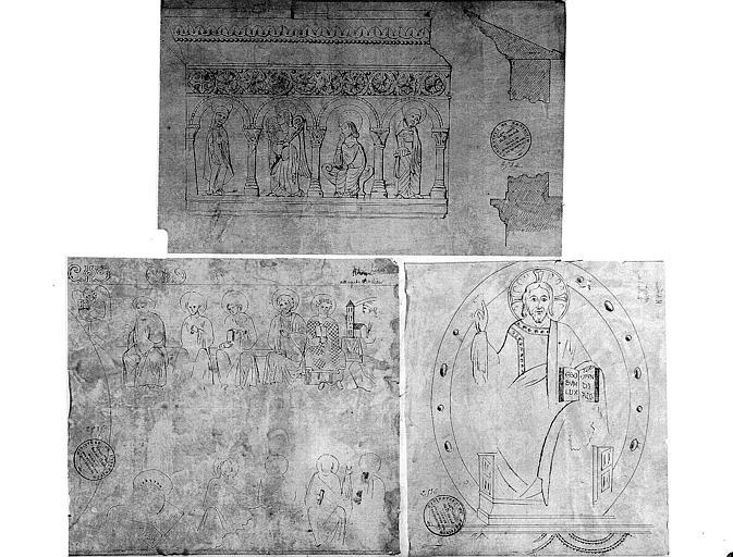 Projets de restauration du décor sculpté du portail