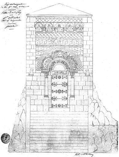 Elévation du portail