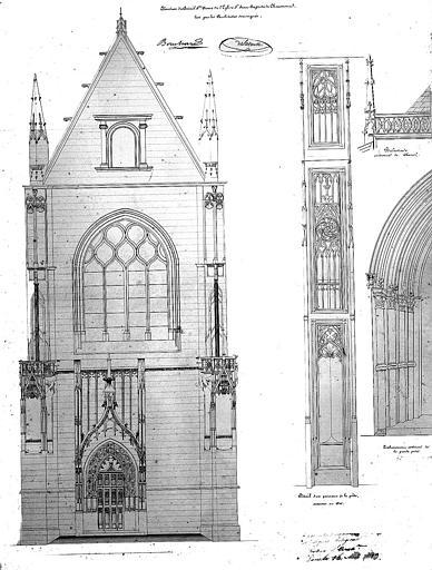 Elévation du portail Sainte-Anne