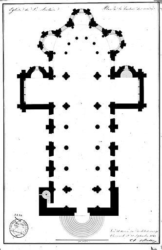 Plan général à la hauteur des croisées