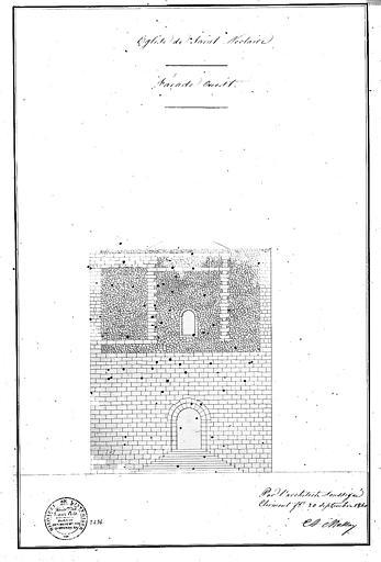 Elévation partielle de la façade ouest