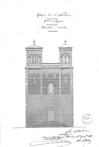 Elévation de la façade ouest (2e projet)