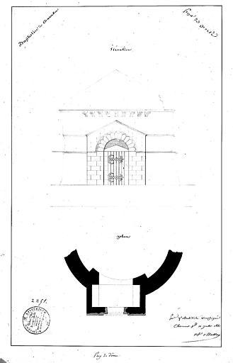 Projet de porte : Plan et élévation