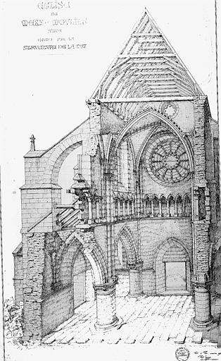 Dessin : Etude sur la structure de la nef