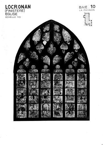 La Passion, baie 10, panneau de vitrail