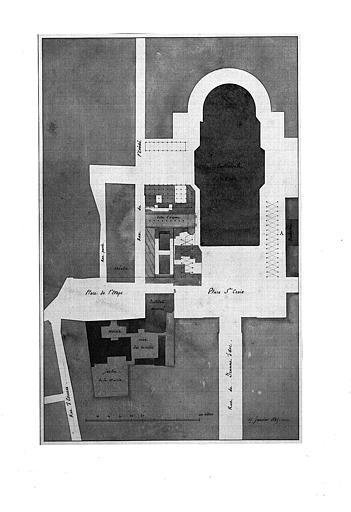 Plan de la Place Sainte-Croix et alentours