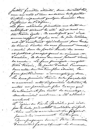 Rapport à la commission par P. Boeswillwald sur le classement de l'église (page 2;3)