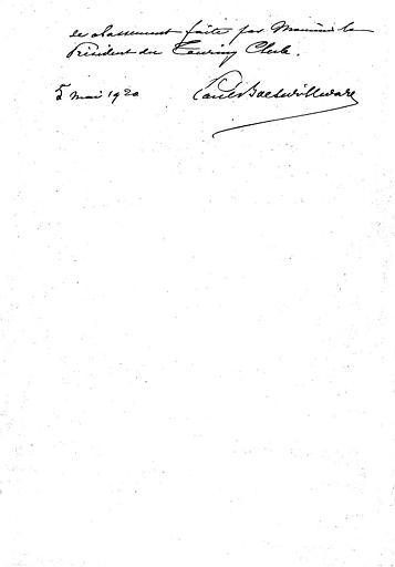 Rapport à la commission par P. Boeswillwald sur le classement de l'église (page 3;3)