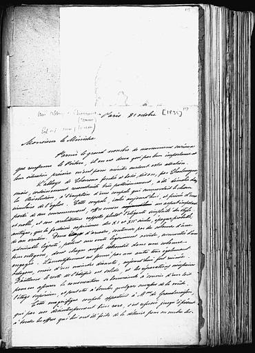 Lettre de Prosper Mérimée à Guizot concernant Charroux et Saint-Savin sur Gartempe (page 1;3)