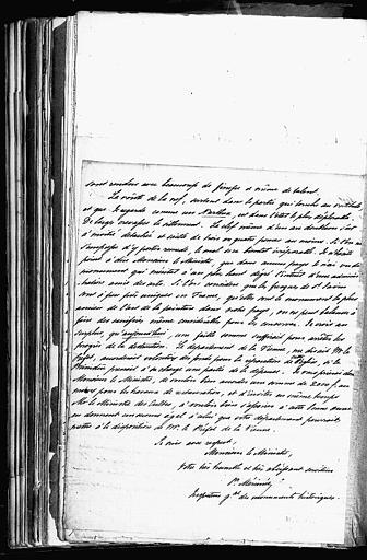 Lettre de Prosper Mérimée à Guizot concernant Charroux et Saint-Savin sur Gartempe (page 3;3)