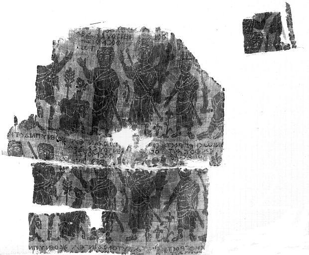 Tissu photographié sur l'envers : Histoire de Joseph
